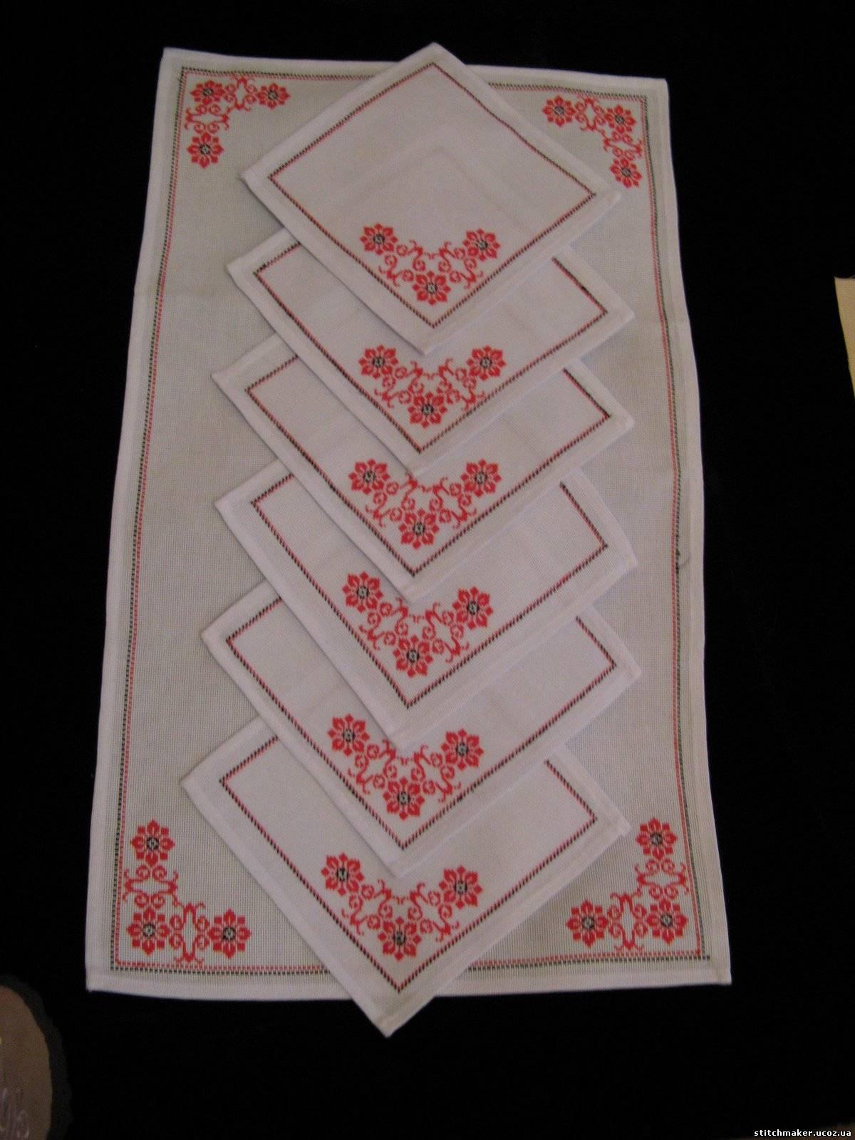 Вышивка скатерти крестом книга