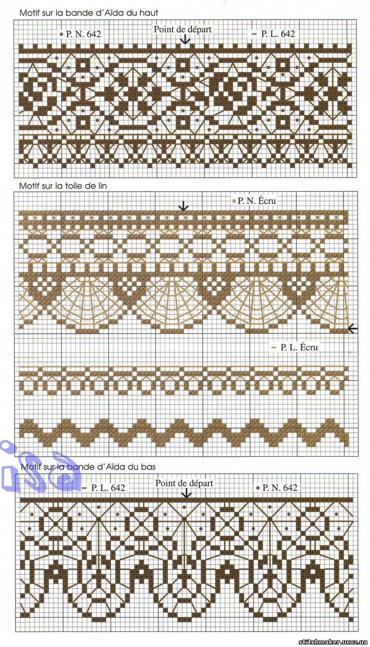 Дизайны для вышивки кружева