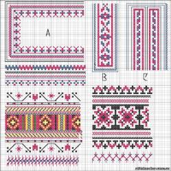Украинские орнаменты вышивок крестом