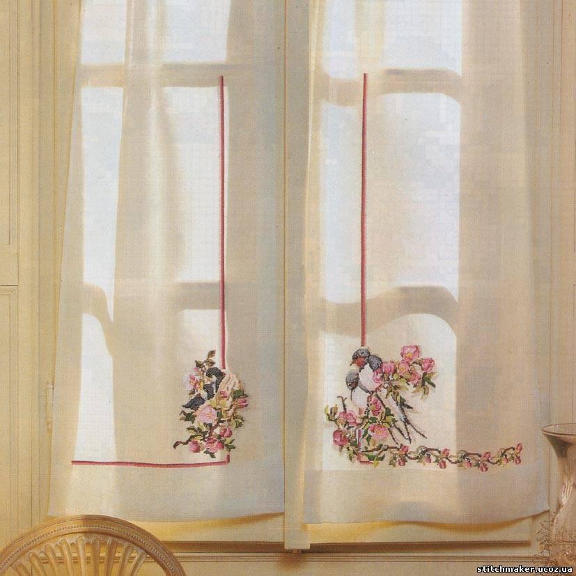 Вышивка крестиком на мебели 29
