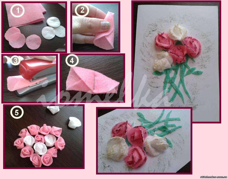Как сделать цветок из салфетки степлером