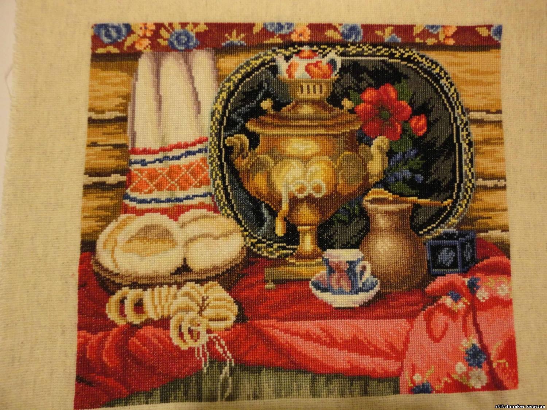 Чайная церемония вышитая бисером фото