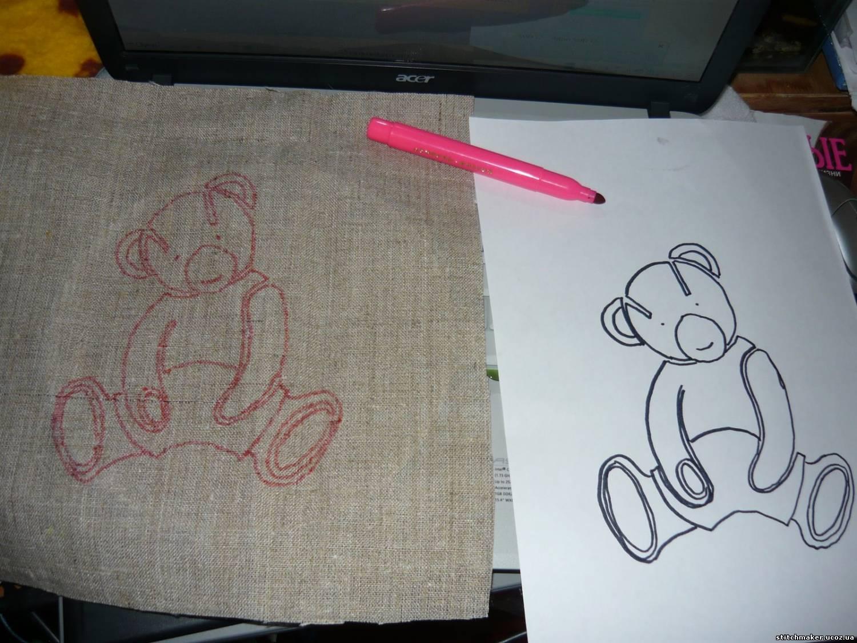 Как перевести рисунок вышивки на грубую ткань, трикотаж или 93