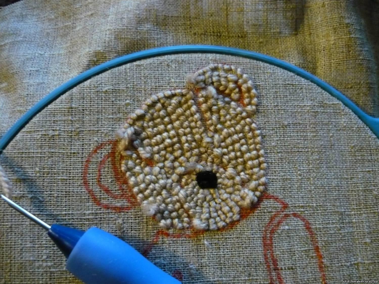 Ковровая вышивка иглой фото