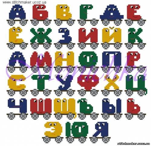 Алфавит в тележках