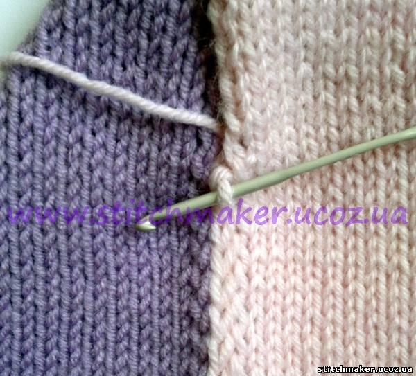 Вязание носка спицей